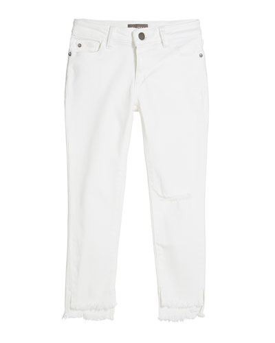 Girls' Chloe Skinny Raw-Hem Jeans, Size 7-16