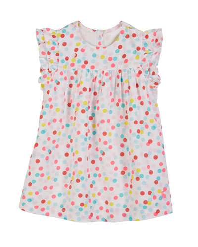 Betty Multicolored Dot Dress w/ Matching Bloomers, Size 3-18 Months