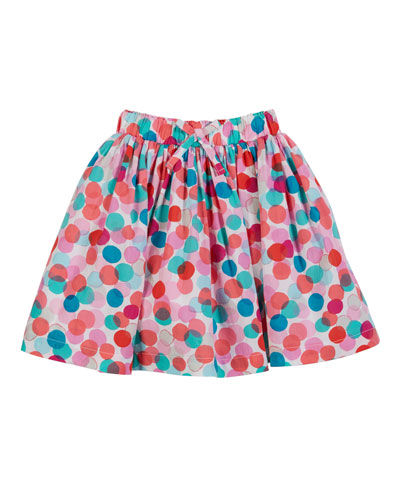 Ariel Dotted A-Line Skirt, Size 2-6
