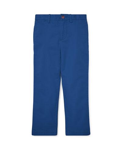 Flat Front Cotton Pants, Size 5-7