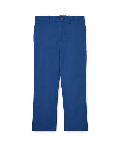 Flat Front Cotton Pants, Size 2-4
