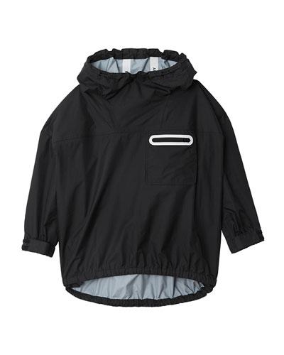 Malachi Hooded Pullover Logo Jacket, Size 8-14