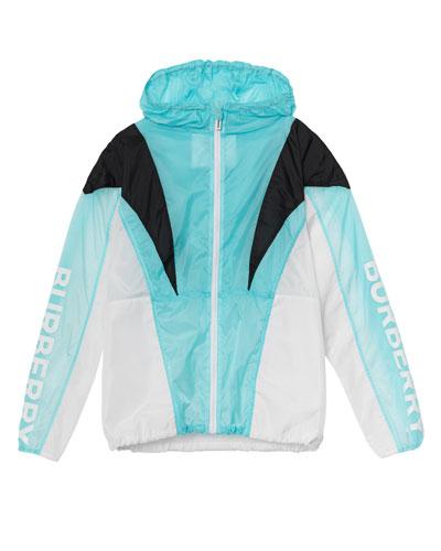 Tami Pieced Colorblock Wind Jacket, Size 10-14