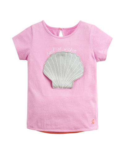 Pearl of Wisdom Applique Tee, Size 2-6