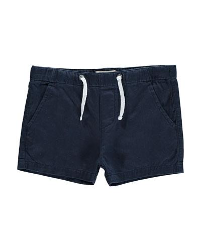 Cotton Twill Shorts, Size 2T-10