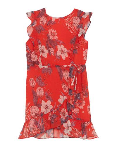 Enid Floral Wrap Dress, Size 8-16
