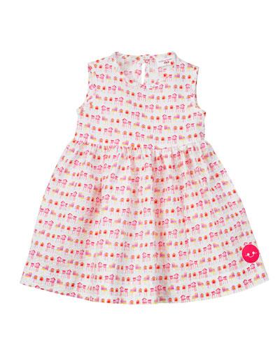 Summer House Sunset Print Seersucker Dress, Size 7-10
