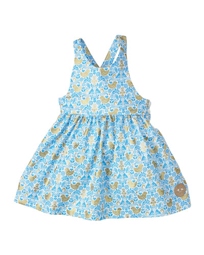 Golden Chickadee Sleeveless Dress, Size 7-10