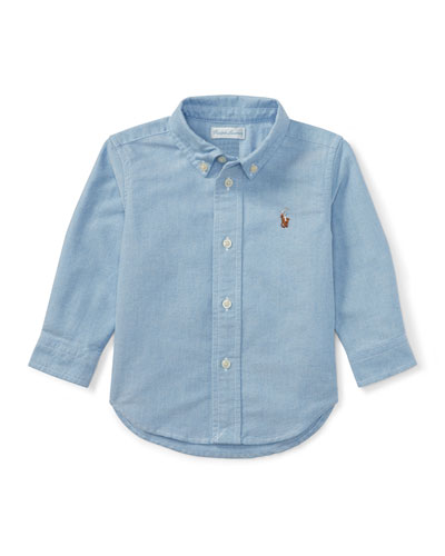 Oxford Chambray Shirt, Size 9-24 Months