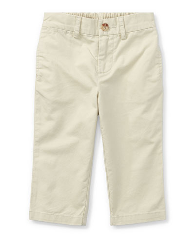 Suffield Straight-Leg Cotton Pants, Size 9-24 Months