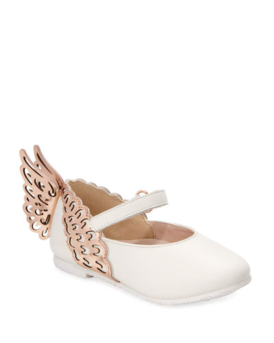 727eb5cd2667 Evangeline Leather Butterfly-Wing Flats