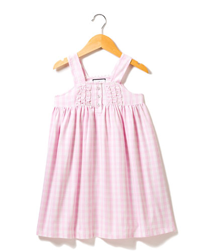 Charlotte Gingham Nightgown, Size 6M-14