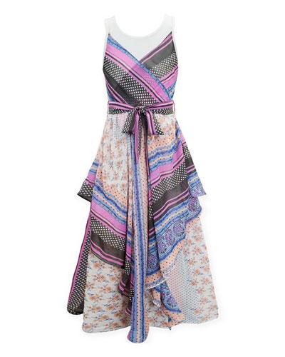 Scarf Print Maxi Dress, Size 7-16
