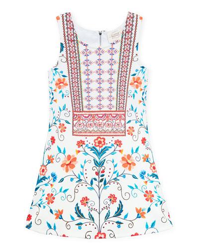 Floral & Aztec Print Sleeveless Dress, Size 4-6X