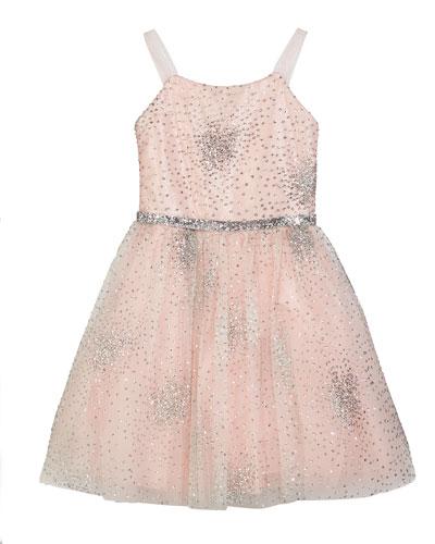 Amelia Sparkle Tulle Party Dress, Size 4-6X