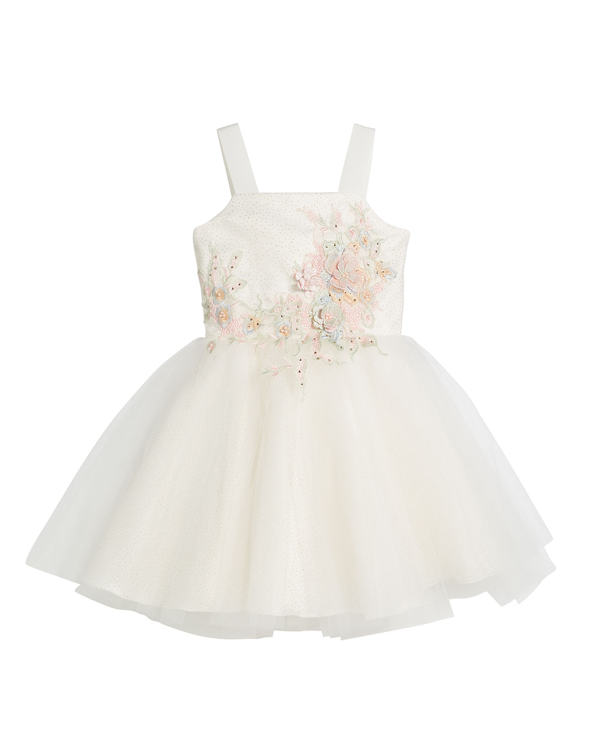 Zoe PAULINA EMBROIDERY & TULLE BALLET BACK DRESS