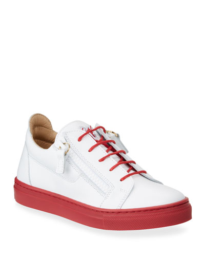 1eb052e825f00 Contrast-Heel Leather Low-Top Sneakers, Baby/Toddler