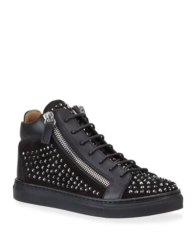 Boy's Studded High-Top Sneakers, Toddler/Kids