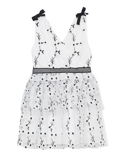 Carolina Embroidered Mesh Dress, Size 8-16