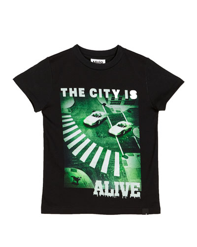 Raymont The City Is Alive Tee, Size 4-12