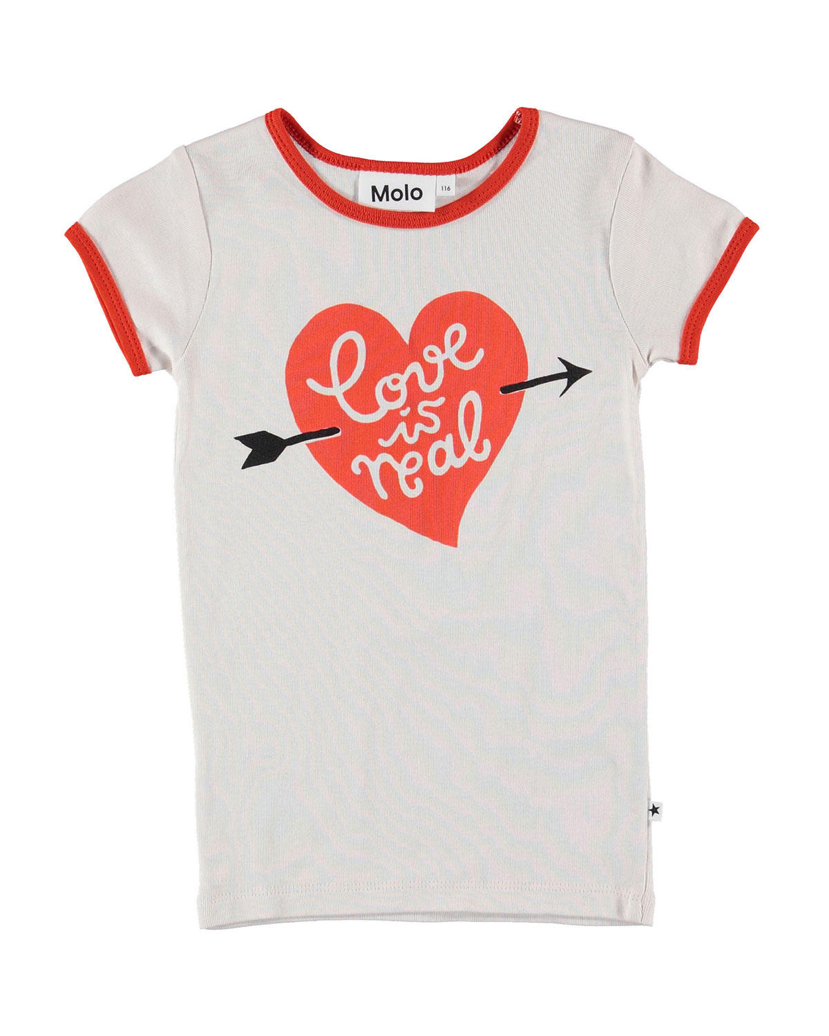 Molo RHIANNON LOVE IS REAL RINGER TEE