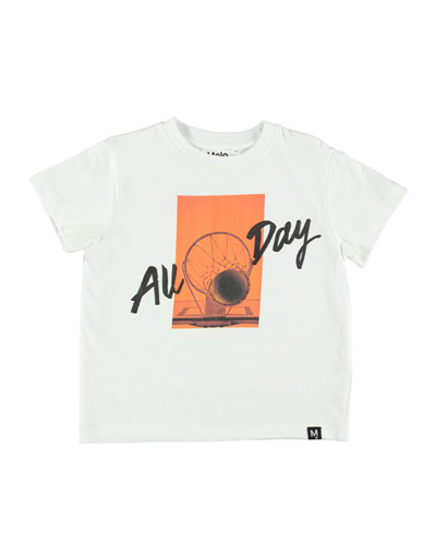 Roxo All Day Basketball Graphic T-Shirt, Size 4-12