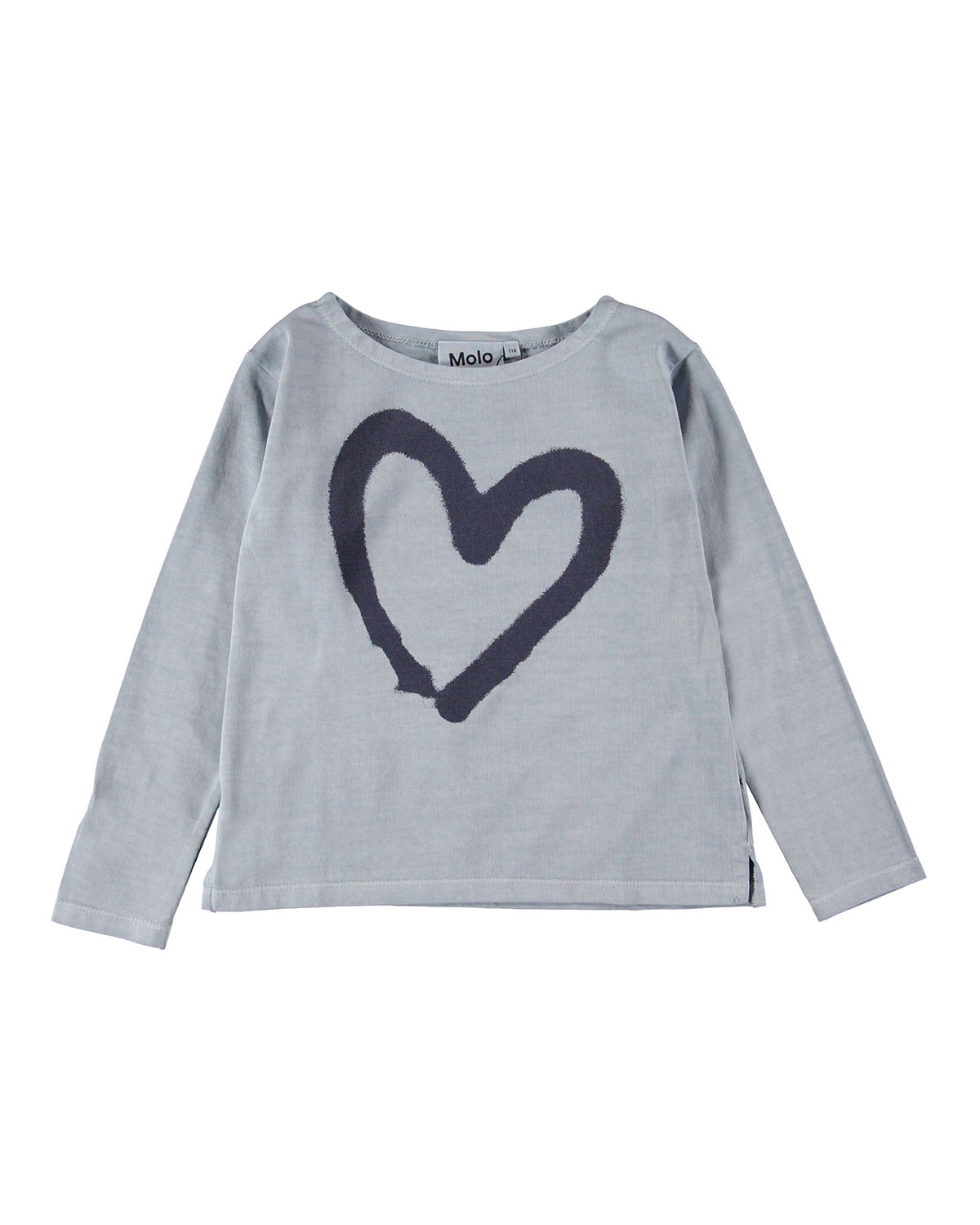 Molo RAMILAH HEART GRAPHIC LONG-SLEEVE TEE