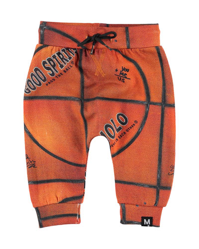 Solom Basketball Print Sweatpants, Size 6-24 Months