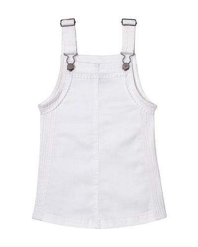 Penelope Lace-Trim Pinafore Dress, Size XS-XL