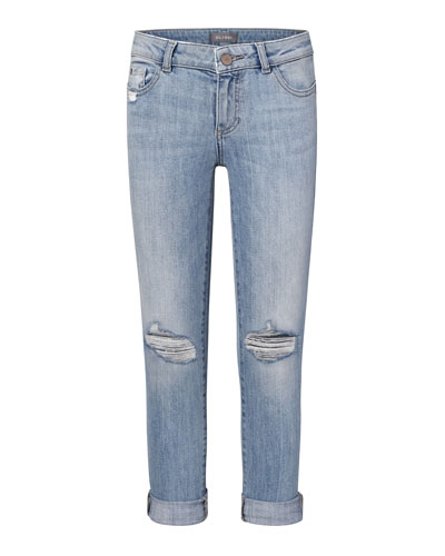 Girls' Harper Distressed Boyfriend Jeans, Size 7-18