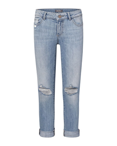 Girls' Harper Distressed Boyfriend Jeans, Size 2-6