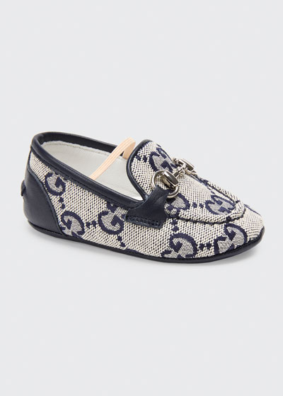 Jordaan GG Supreme Canvas Loafers, Baby