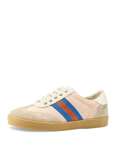 Leather & Suede Low-Top Sneakers, Toddler/Kids