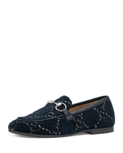 Jordaan GG Velvet Loafers, Toddler/Kids
