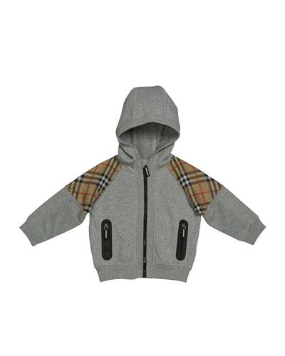 Hamilton Check-Trim Hooded Zip-Up Jacket, Size 6M-2