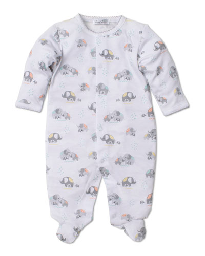 Elephant Hugs Printed Pima Footie Playsuit, Size Newborn-6 Months