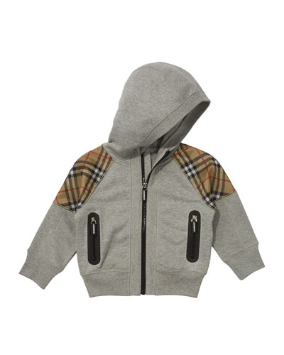 Hamilton Check-Trim Hooded Zip-Up Jacket, Size 3-14