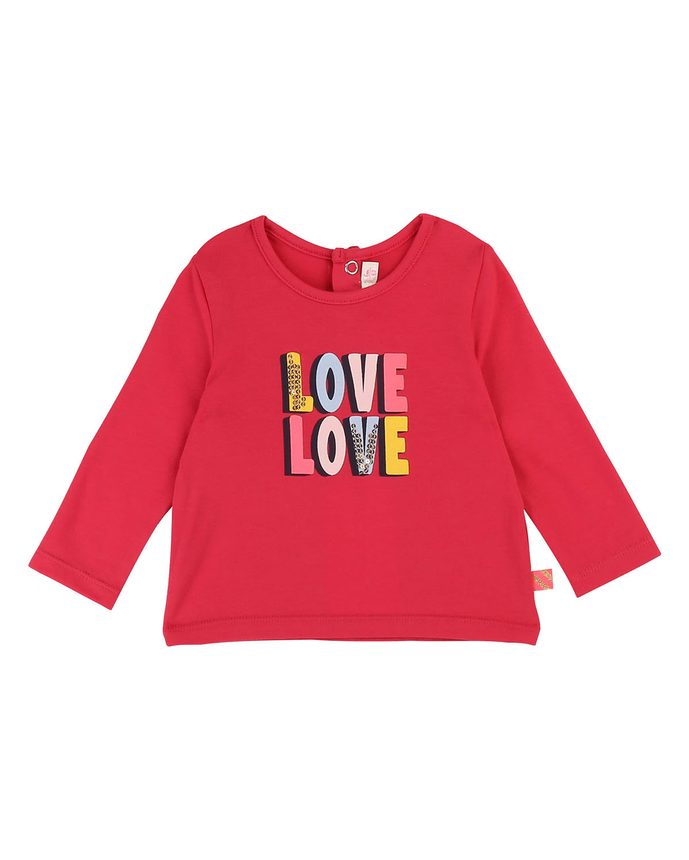 Billieblush LOVE LOVE SEQUIN GRAPHIC TEE