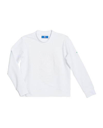Boys' Logo Embroidered Stretch Sweater, Size 4-16