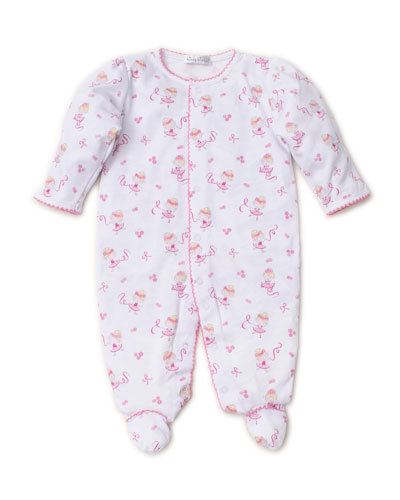 Twirly Toes Printed Pima Footie Playsuit, Size Newborn-9 Months