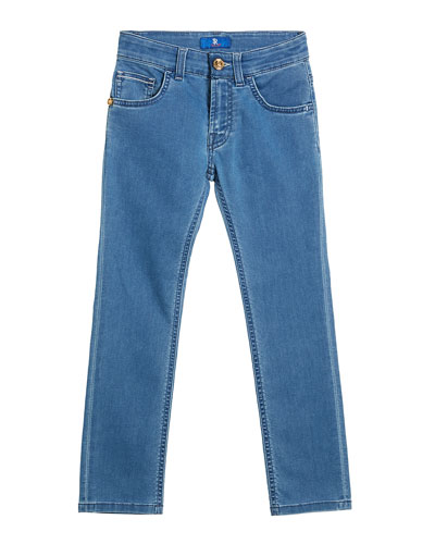 Boy's Straight Leg Denim Jeans, Size 6-14