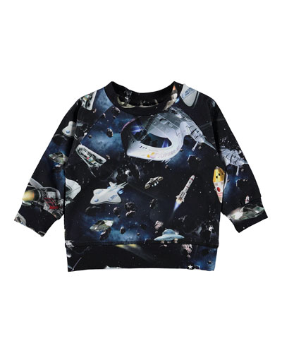 Elmo Space Print Long-Sleeve Tee, Size 6-24 Months