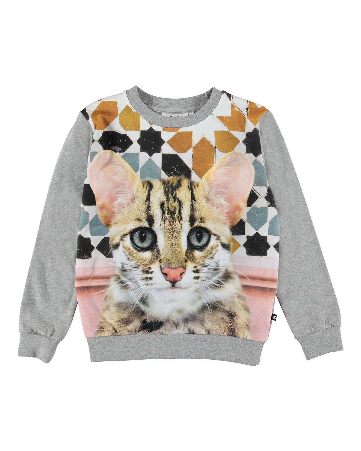 Molo REGINE CAT FACE PRINT SWEATSHIRT
