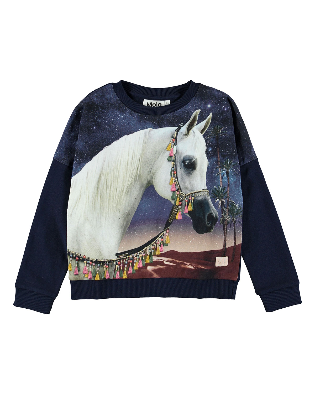 Molo MARIGOLD ARABIAN HORSE PRINT SWEATSHIRT