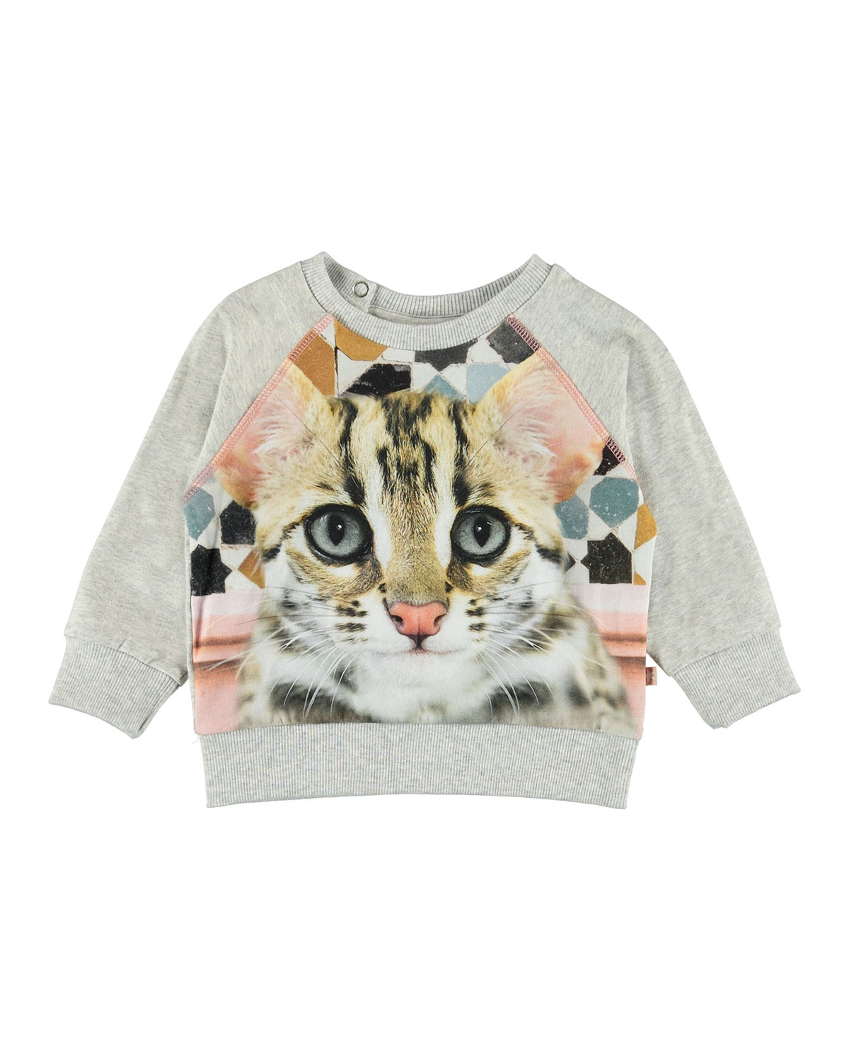 Molo ELSA CAT FACE PRINT SWEATSHIRT