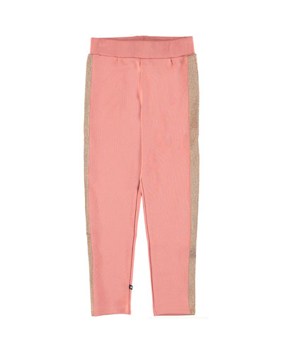 Antonia Shimmer-Trim Sweatpants, Size 4-12
