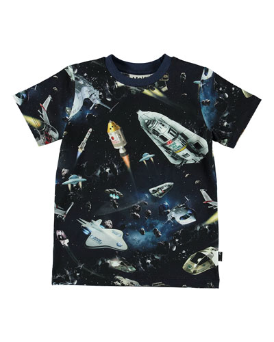 Ralphie Space Print Short-Sleeve Tee, Size 4-10