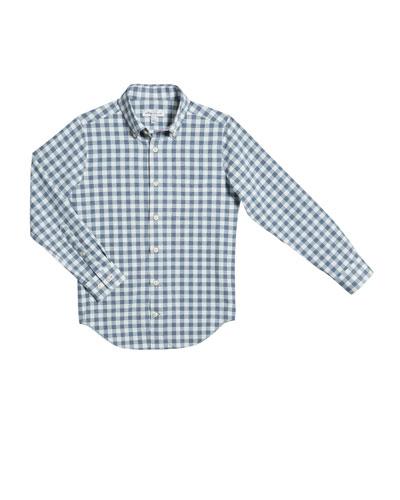 Boy's Gingham Button-Down Shirt, Size XS-XL