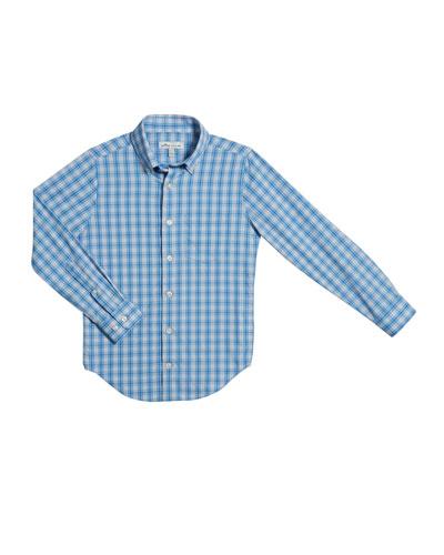 Boy's Tattersall Plaid Button-Down Shirt, Size XS-XL