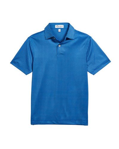 Boy's Stanbury Gingham Print Polo Shirt, Size XS-XL
